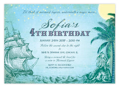 Vintage Neverland Birthday Invitations