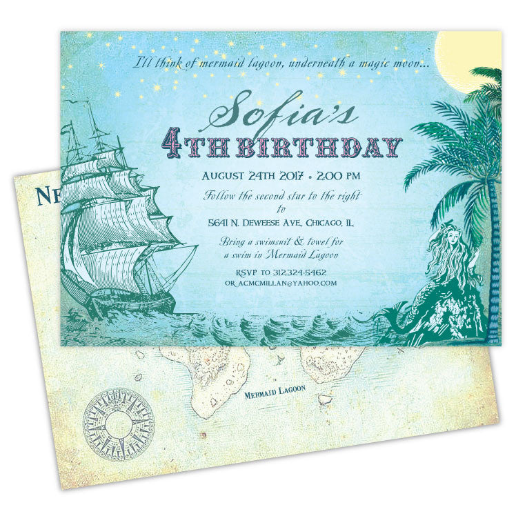 Neverland Birthday Invitations – Ian & Lola Design Boutique