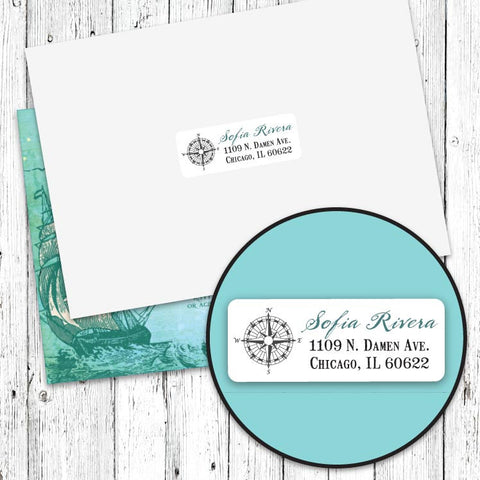 Vintage Neverland Address Labels
