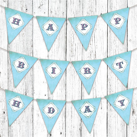 Vintage Neverland Printable Party Banner