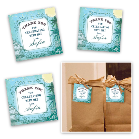 Vintage Neverland Party Favor Tags