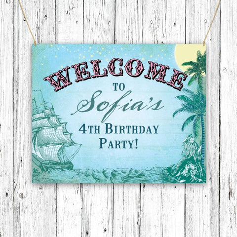 Vintage Neverland Party Signs