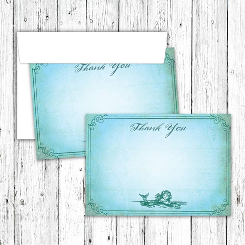 Vintage Neverland Thank You Notecard