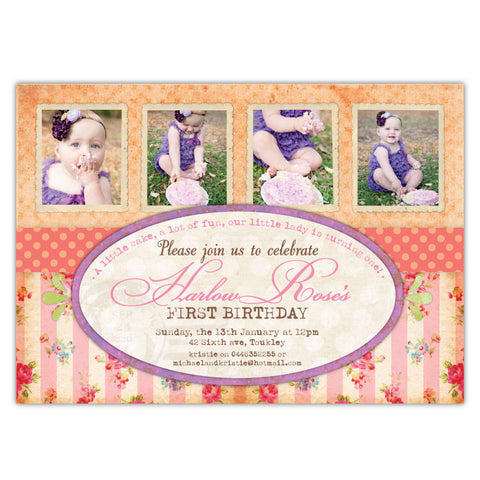 Vintage Roses Invitations (A)