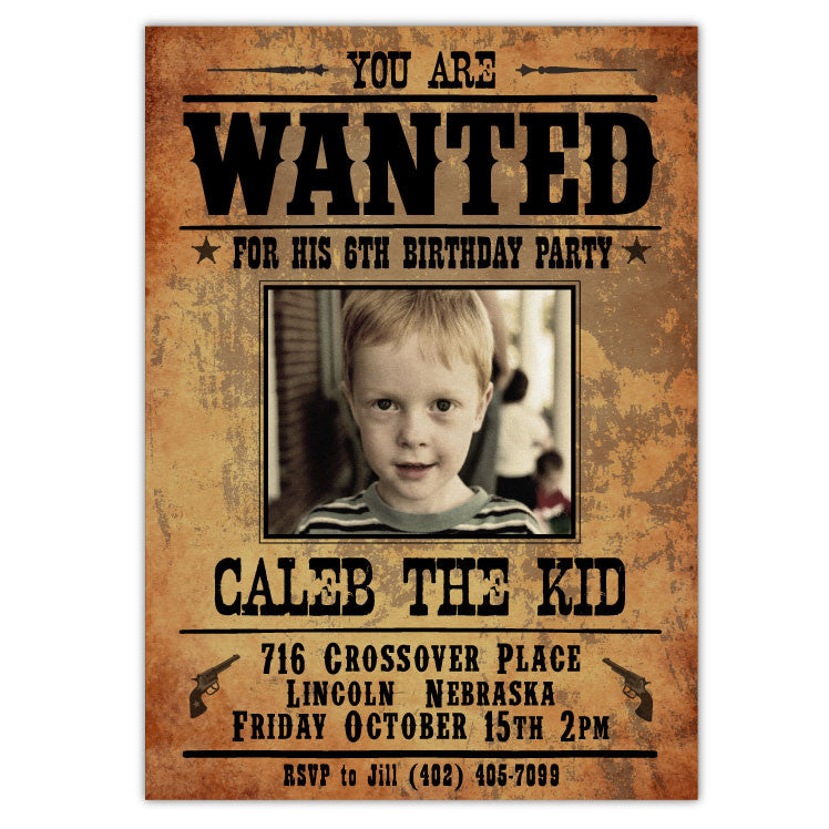Wanted Poster Birthday Invitations Choice Image - coloring pages adult