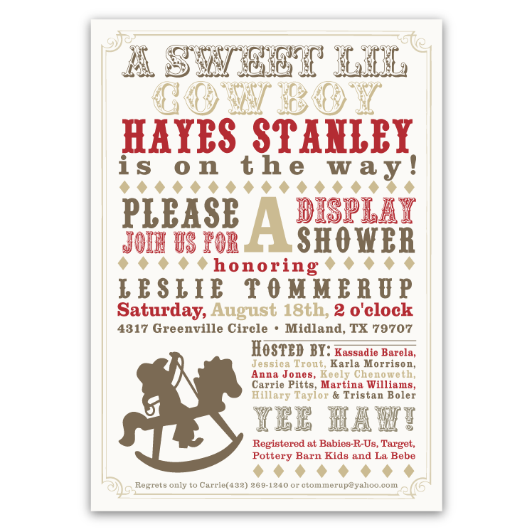 Rocking Horse Baby Shower Invitations (boy) – Ian & Lola Design Boutique