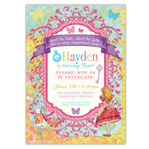 Whimsical Wonderland Invitations (A)