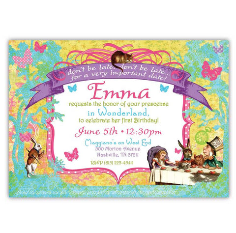 Whimsical Wonderland Invitations (B)