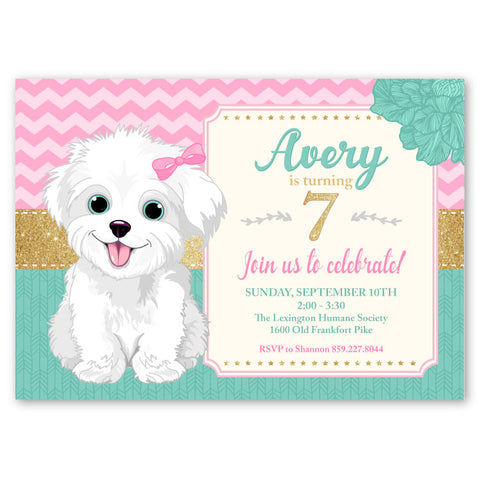 Girl Birthday Invitations Ian Lola Design Boutique