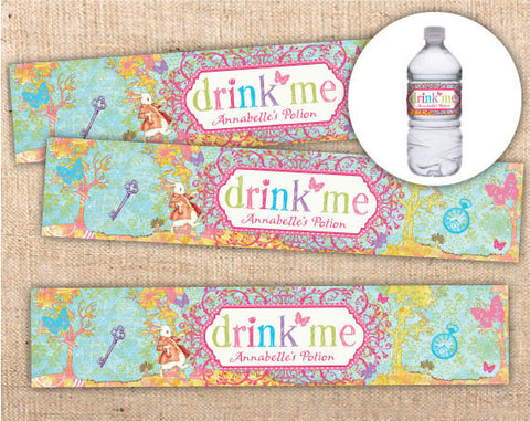 Whimsical Wonderland Bottle Labels