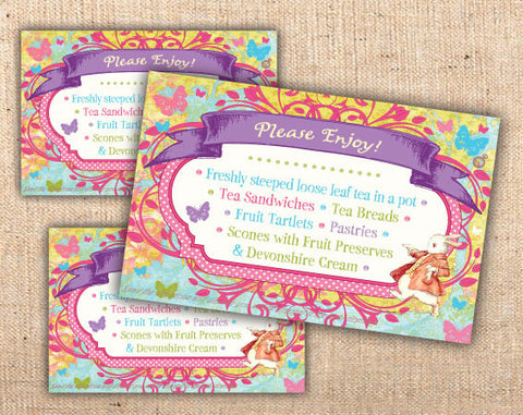 Whimsical Wonderland Menu Tents