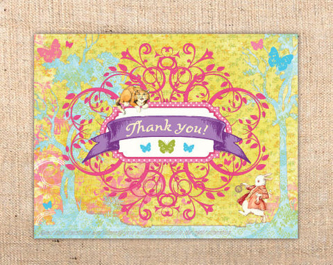 Whimsical Wonderland Thank You Cards (A)