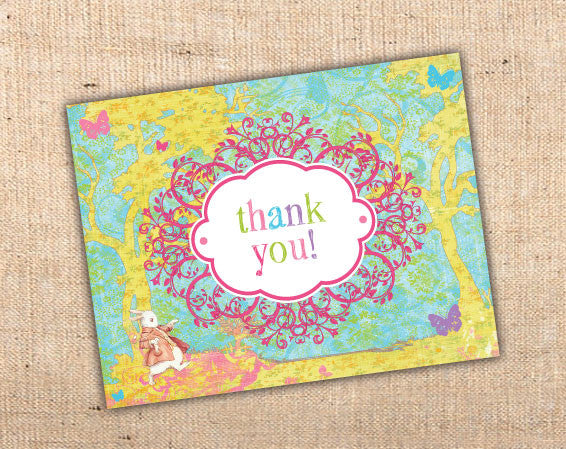 Whimsical Wonderland Thank You Cards (B)