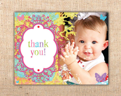 Whimsical Wonderland Photo Thank You Cards