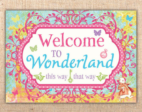 Whimsical Wonderland Welcome Sign