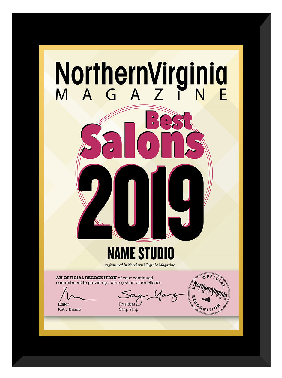 2019 Best Salons Plaque