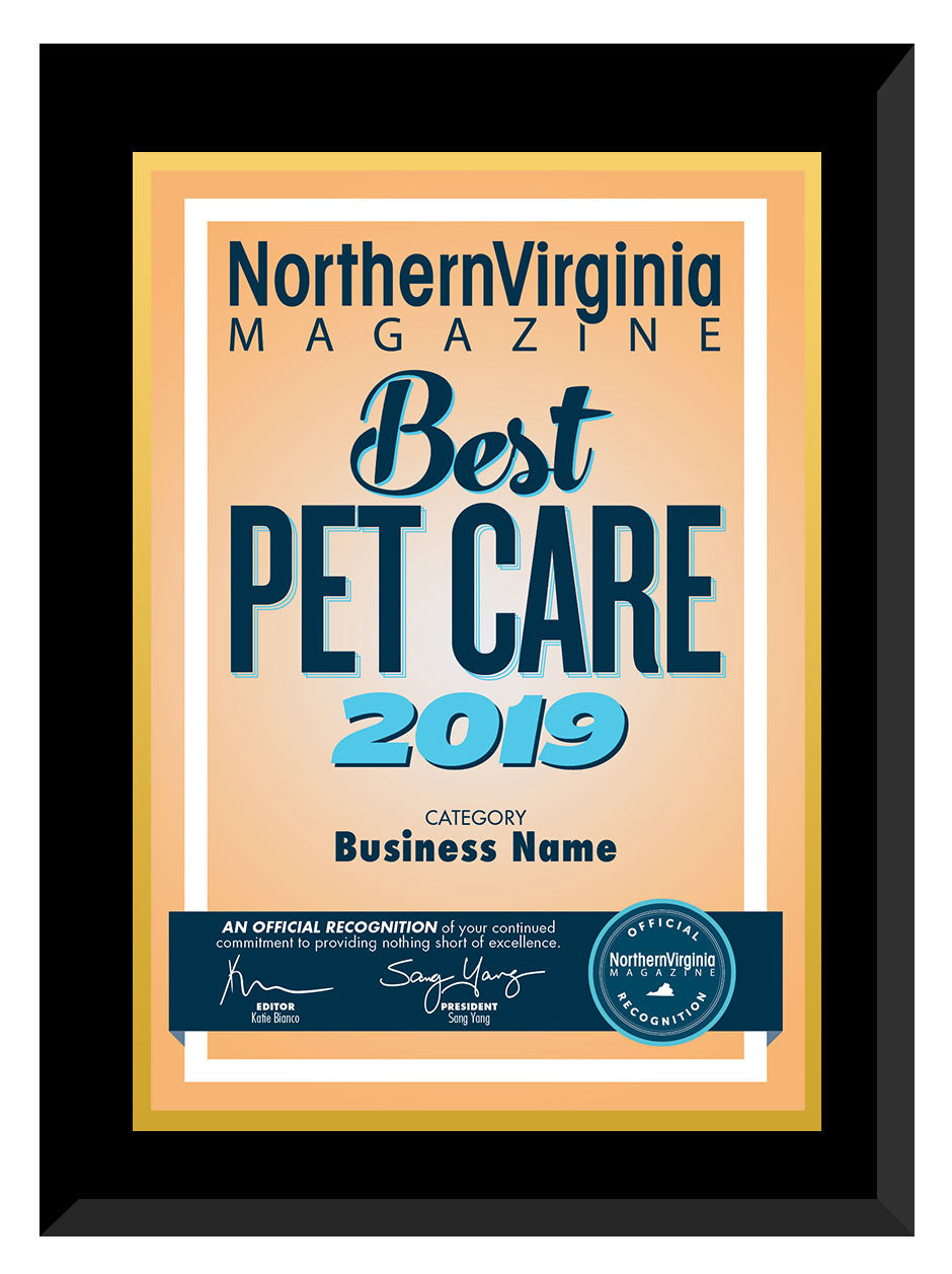 2019 Best Pet Care Plaque