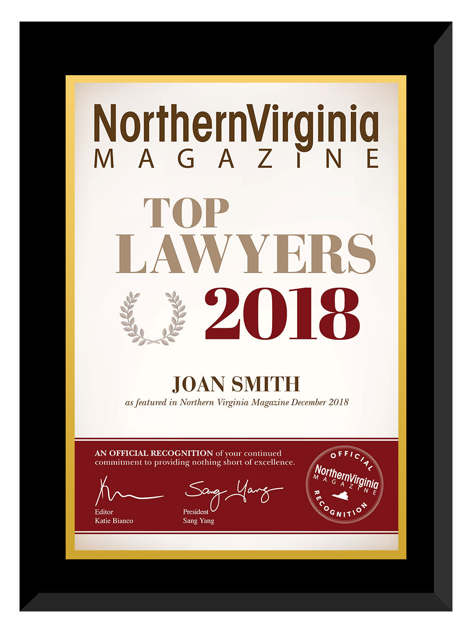 2018 Top Lawyers Plaque