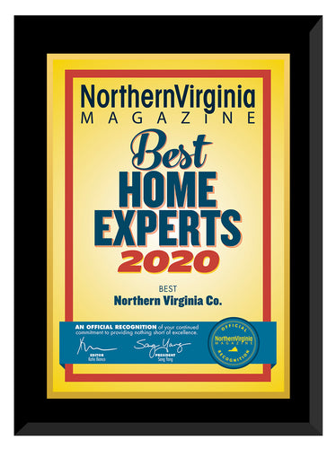 2020 Best Home Experts Plaque