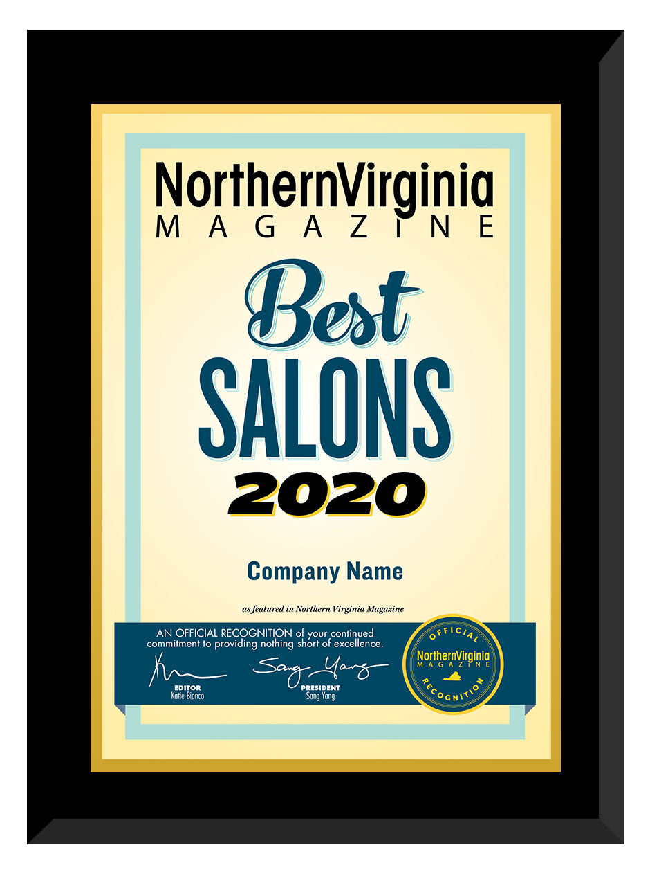 2020 Best Salons Plaque