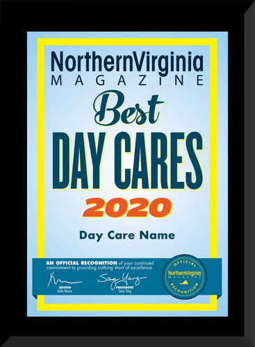 2020 Best Day Care Plaque