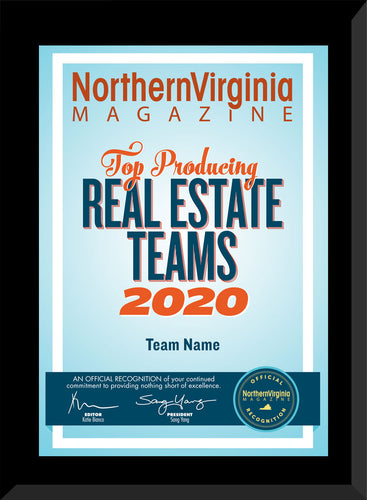 2020 Top Producing Real Estate Teams Plaque