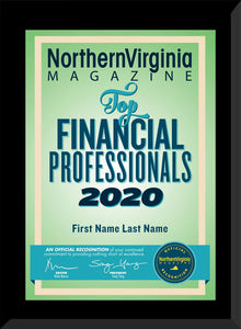 2020 Top Financial Professionals Plaque