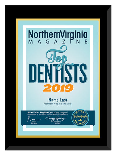 2019 Top Dentists Plaque