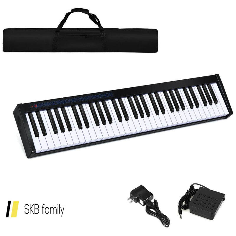 61-Key Portable Digital Stage Piano With Carrying Bag 200815-21930
