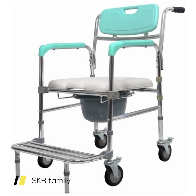 Aluminum Medical Transport Commode Wheelchair Shower Chair 200815-22212