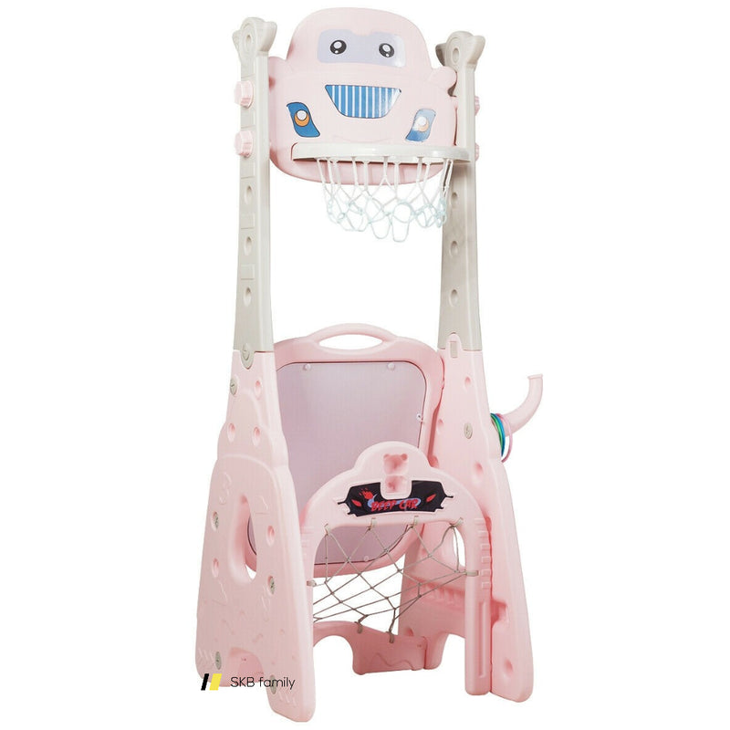 6-In-1 Adjustable Kids Basketball Hoop Set 200815-22787