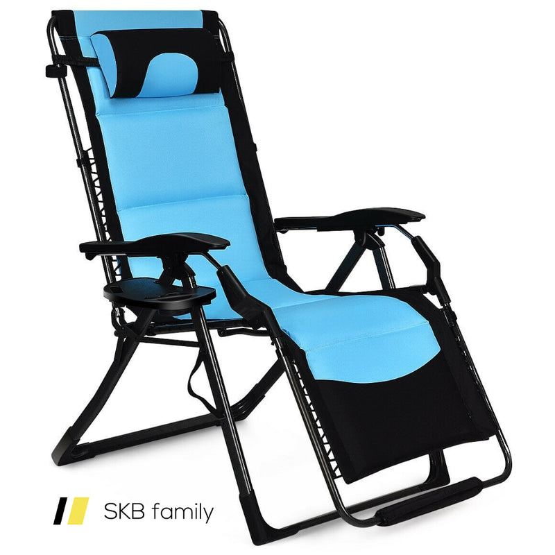 Outdoor Folding Padded Zero Gravity Lounge Chair 200815-23426