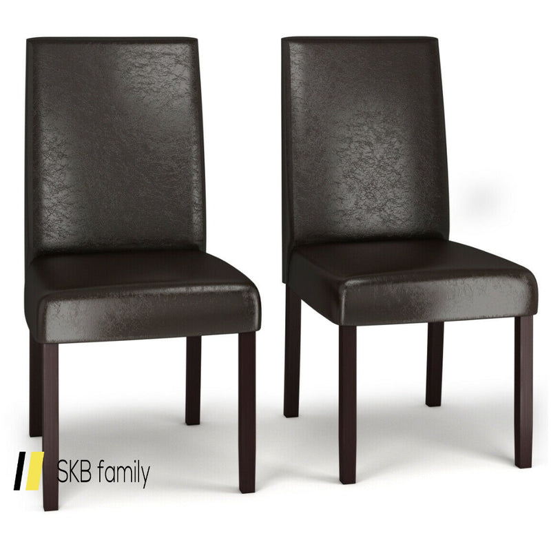 Set Of 2 Pu Upholstered Parsons Dining Chair 200815-23500