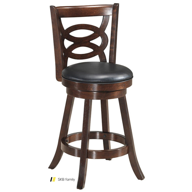 Counter Height Upholstered Espresso Swivel Dining Chair 200815-23671