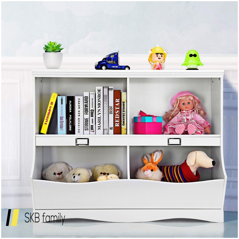 Kids Storage Unit Baby Toy Organizer Children Bookshelf Bookcase 200815-23708