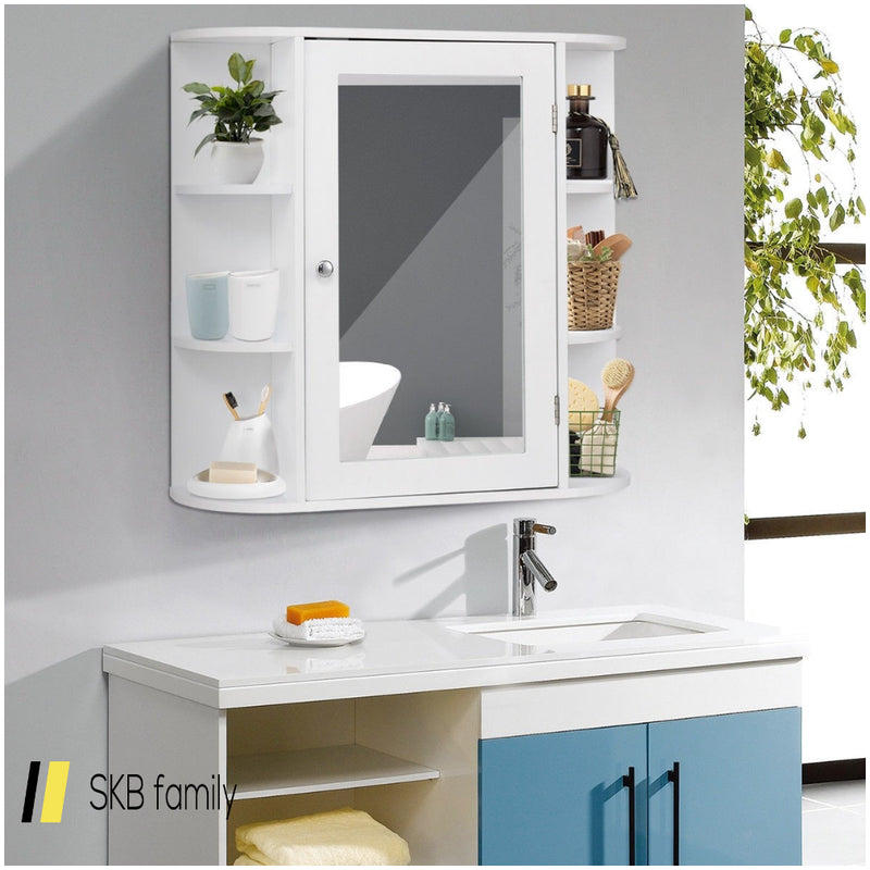 Multipurpose Mount Wall Surface Bathroom Storage Cabinet With Mirror 200815-24039