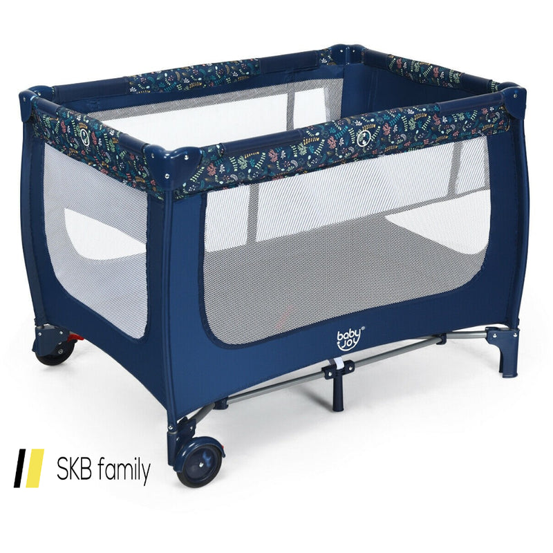 Portable Baby Playpen With Mattress Foldable Design 200815-24607