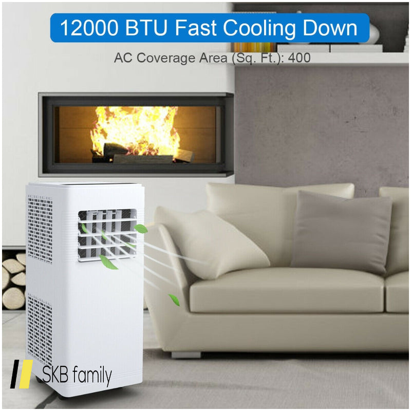 12000 Btu Electric Portable Air Cooler Dehumidifier Cool Fan 200815-21933
