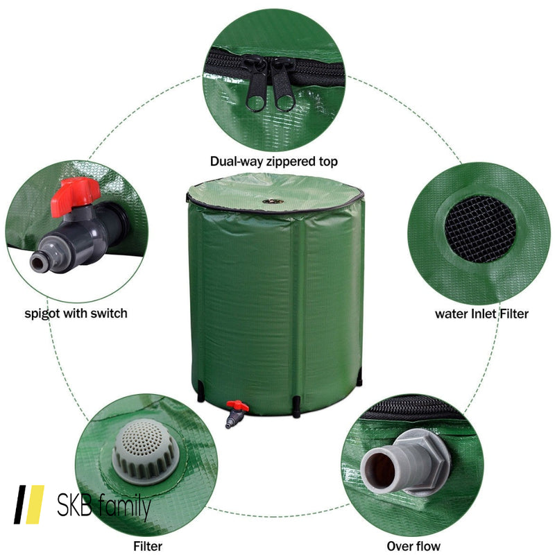 60 Gallon Portable Collapsible Rain Barrel Water Collector 200815-21942