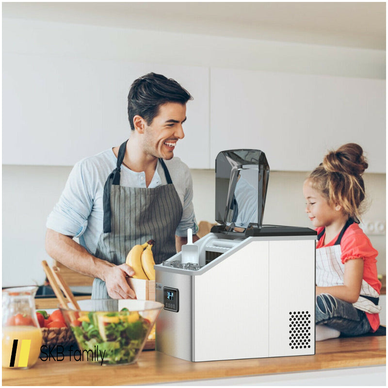 48 Lbs Stainless Self-Clean Ice Maker With Lcd Display 200815-21951