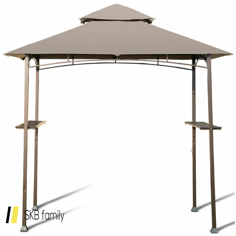 8' X 5' Outdoor Barbecue Grill Gazebo Canopy Tent Bbq Shelter 200815-22004
