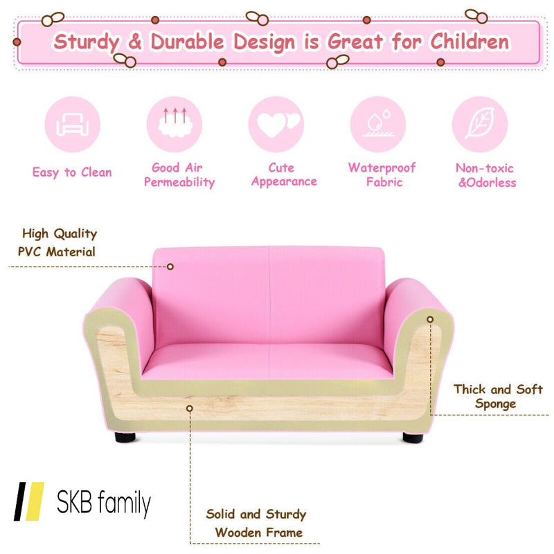 Kids Double Sofa With Ottoman 200815-22020