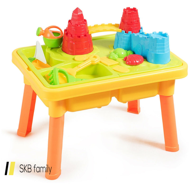 Sand And Water Play Table For Kids With Sand Castle Molds 200815-22022