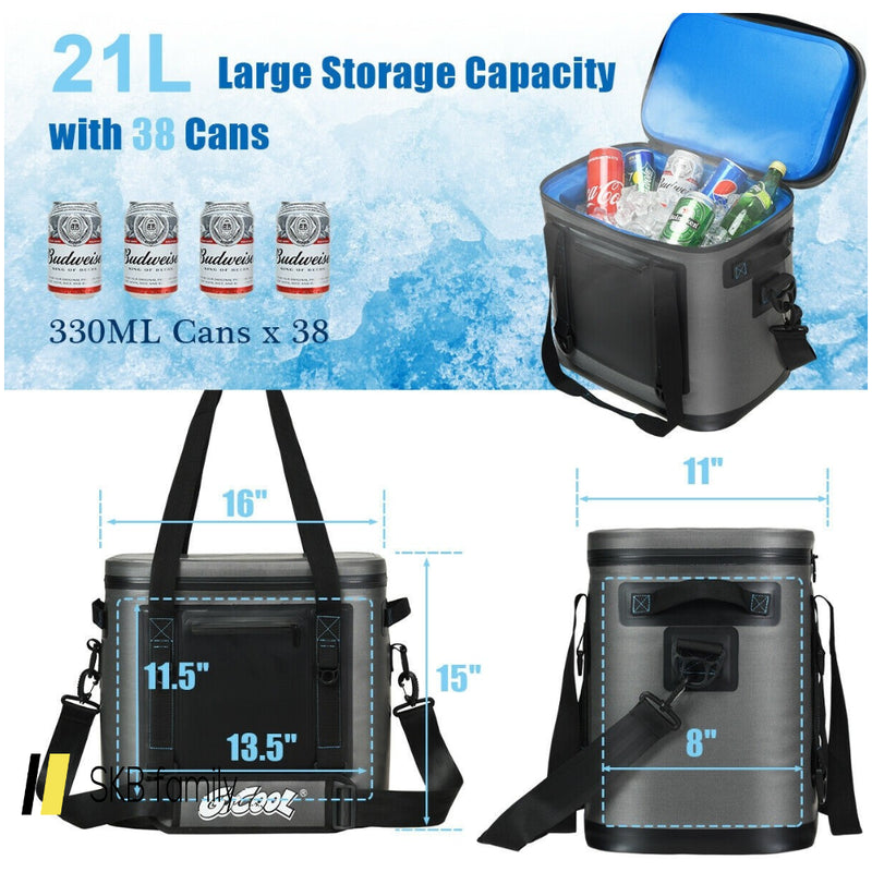 Portable Cooler Bag Leak-Proof Insulated Water-Resistant For Camping 200815-22032