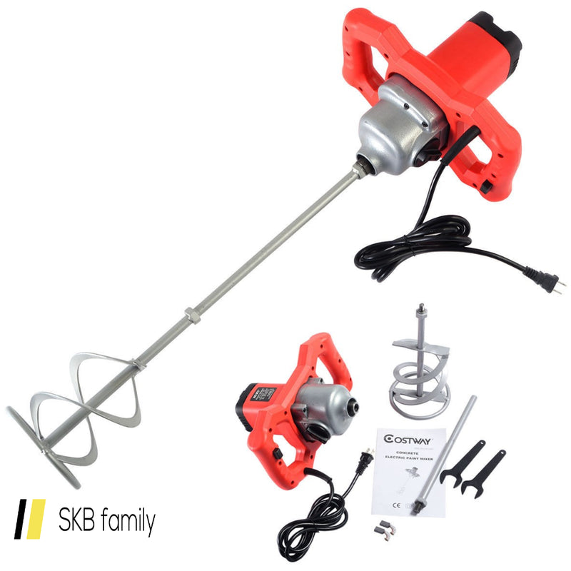 Electric Mortar Mixer 1600w Dual High Low Gear 6 Speed Paint Cement Grout 200815-22046