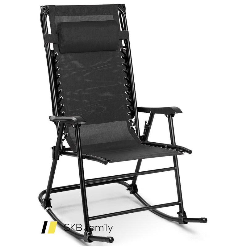 Zero Gravity Folding Rocker Porch Rocking Chair 200815-22055