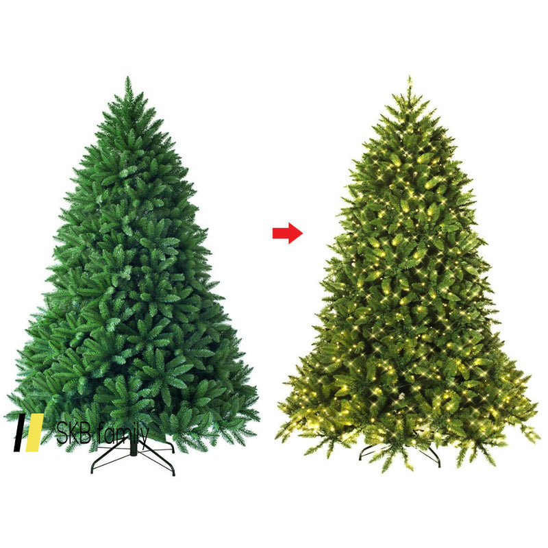 Premium Hinged Artificial Fir Christmas Tree With Led Lights 200815-22070