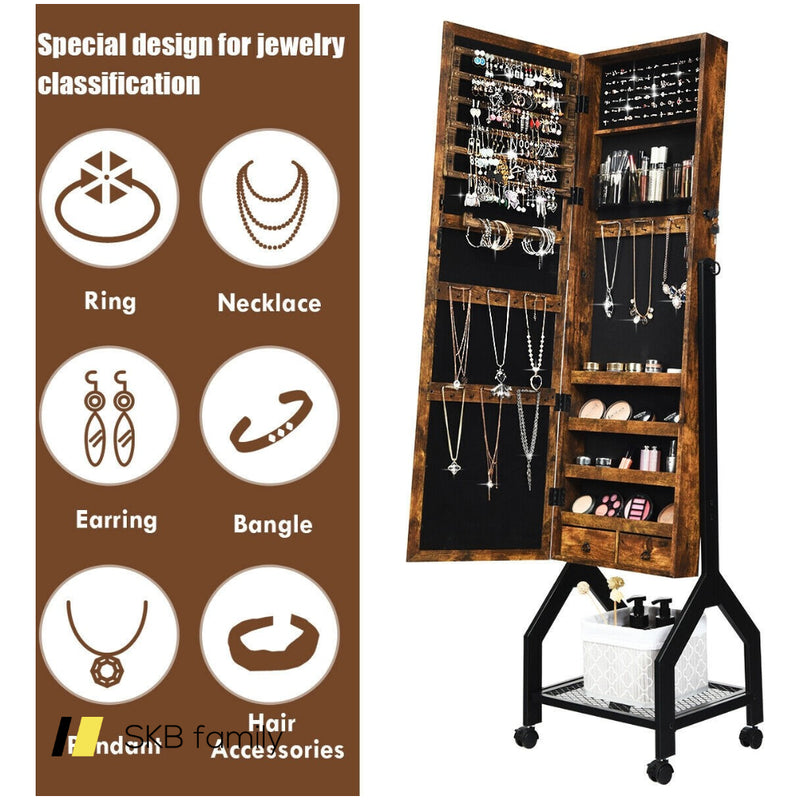 2-In-1 Lockable Large Capacity Jewelry Organizer 200815-22084
