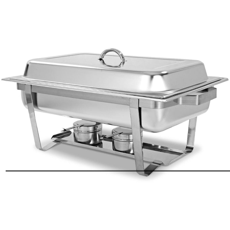 2 Packs Chafing 9 Quart Stainlessl Rectangular Chafer Buffet 200815-22090