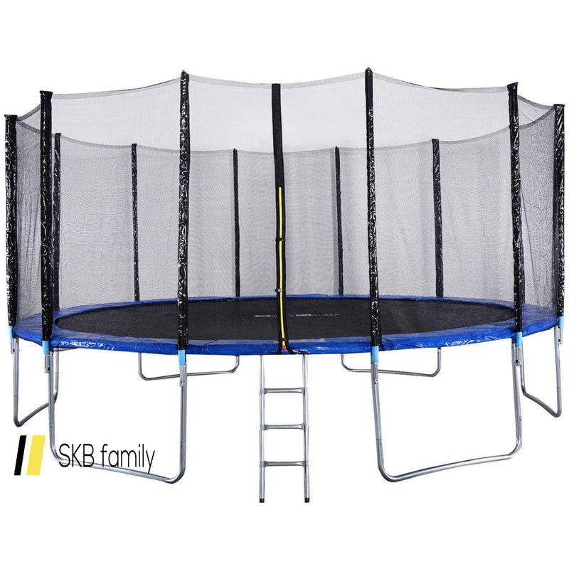 16' Trampoline Combo With Safety Enclosure Net Spring Pad & Ladder 200815-22124